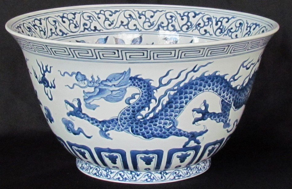 23: Chinese Blue and White Dragon Bowl