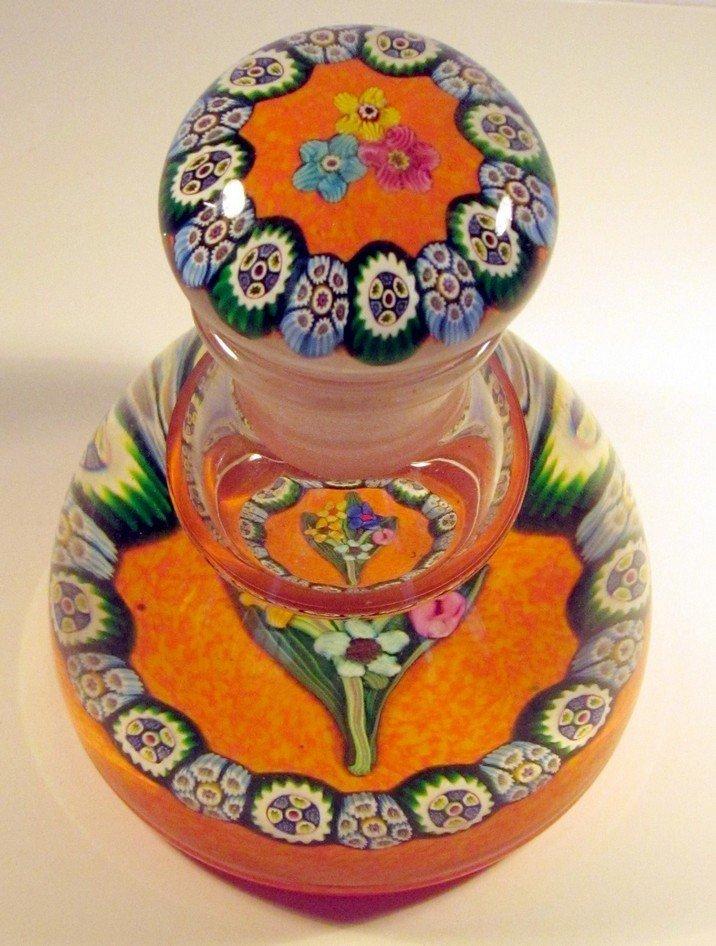 39: Large Perfume Art Glass Paperweight Paul Ysart