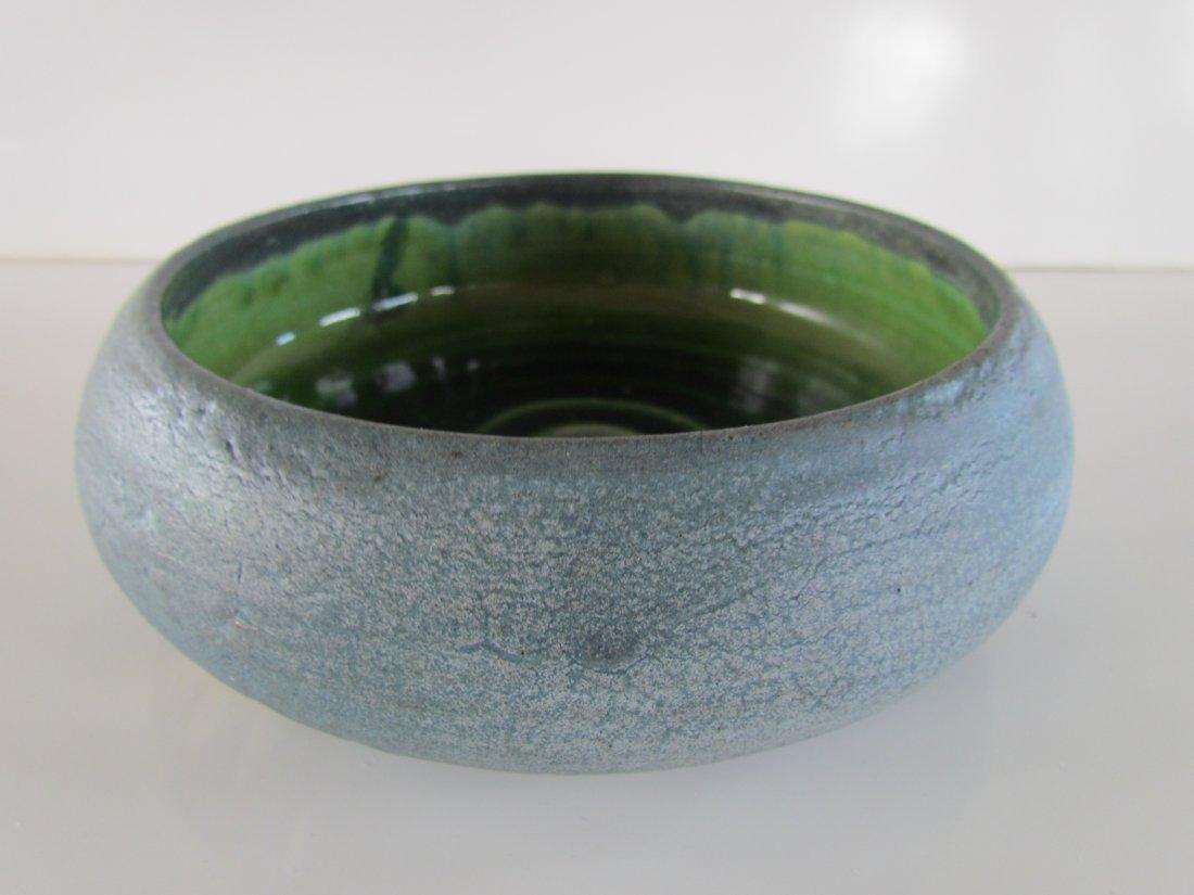 Grueby Pottery Matte Blue Bowl
