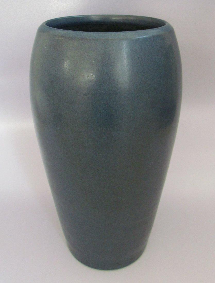 Marbleheard Pottery Vase Matte Blue