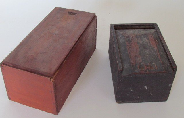 Two Early Candle Boxes