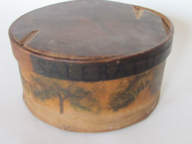 Early Pantry Box with Trees