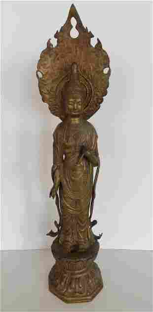 19th Century Asian Bronze Statue