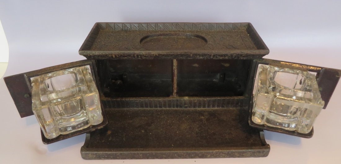 Victorian Inkwell with Moving Doors