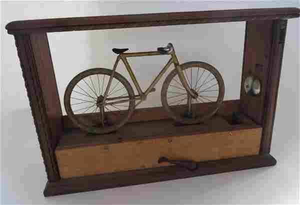 Rare 19th Century 2-Wheel Bicycle Trade Simulator