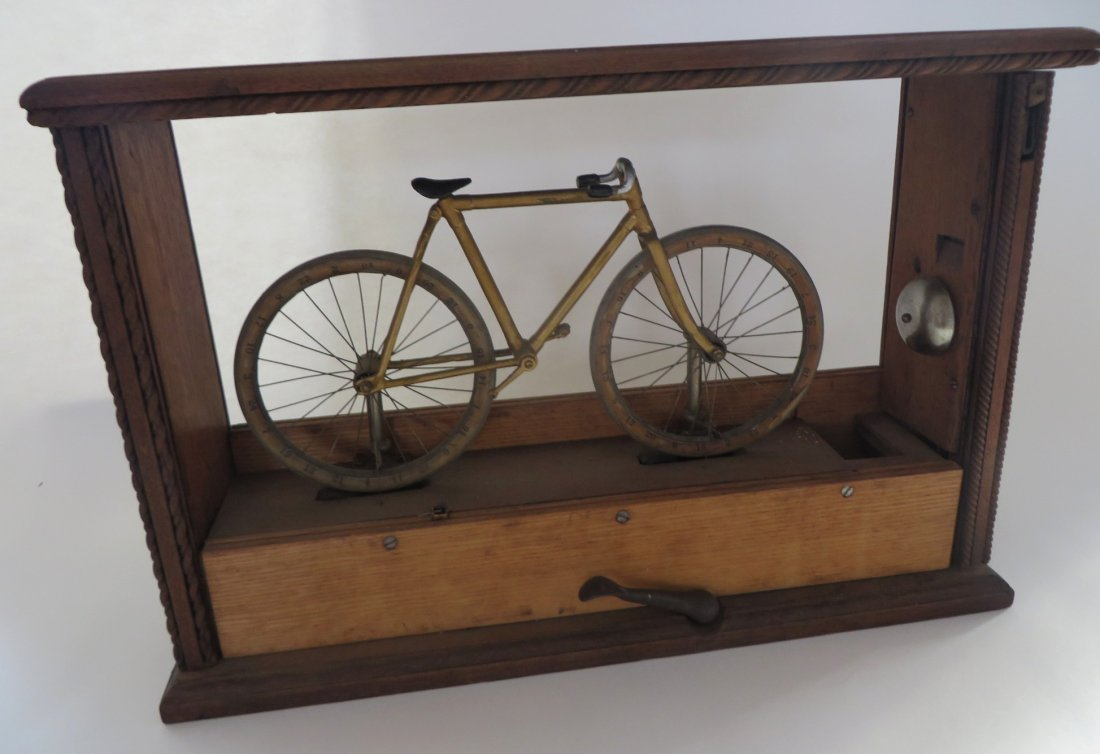 Rare 19th Century 2-Wheel Bicycle Trade Simulator