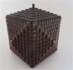 Folk Art Tramp Art Box