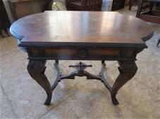 Antique Renaissance Revival Inlaid Table