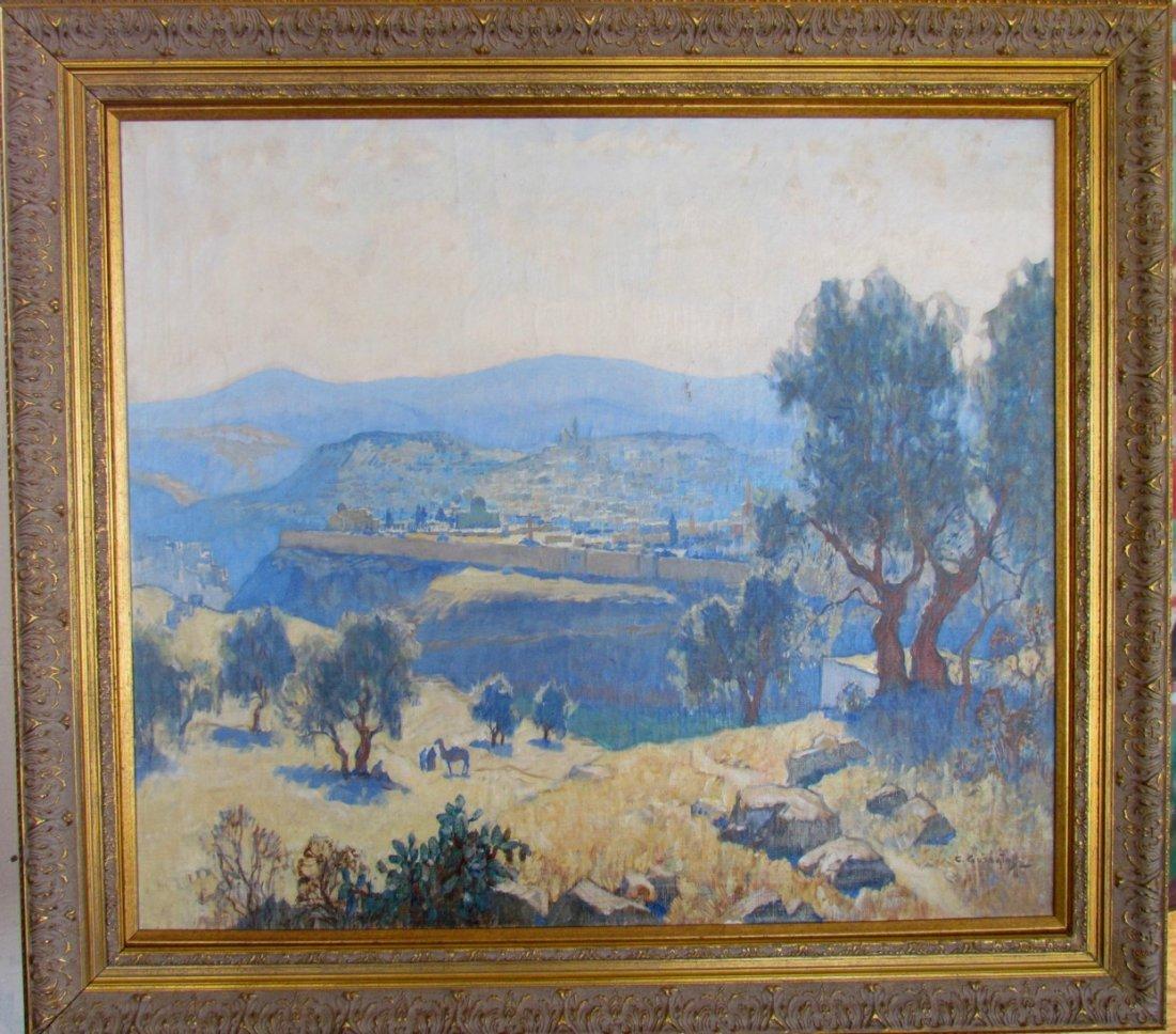 Rare Impressionist painting by Konstantin Gorbatov