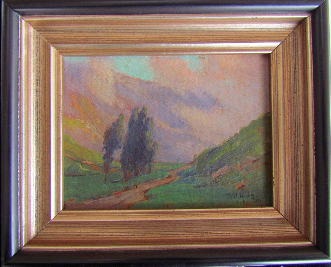 Anna Althea Hills (1882 - 1930 Oil on Board