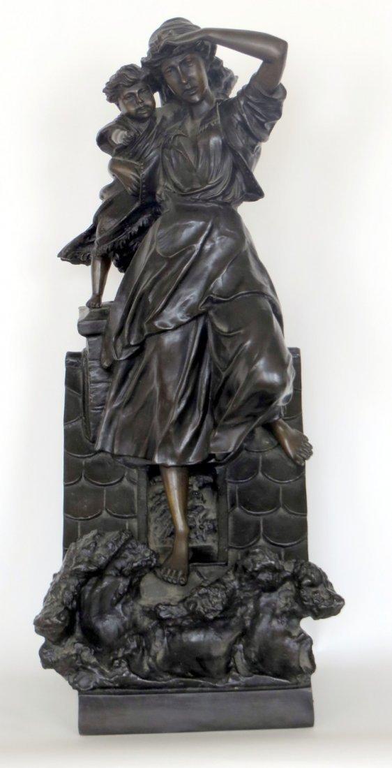 After Hippolyte Francois Moreau  (1832 - 1927) Bronze