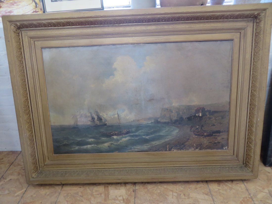 Tony Francois Bergue  (1820 - 1893) Oil on Canvas