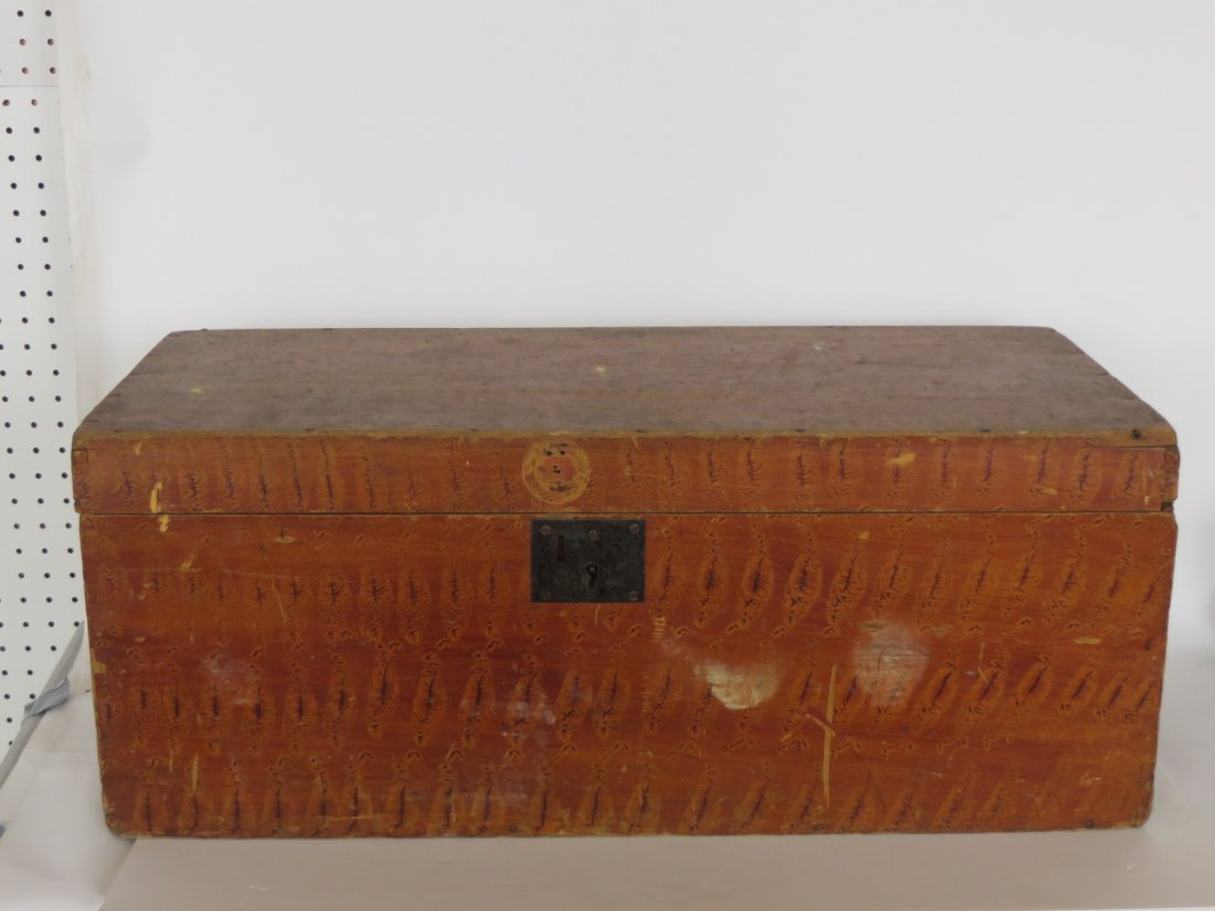 Early Grain Painted Box