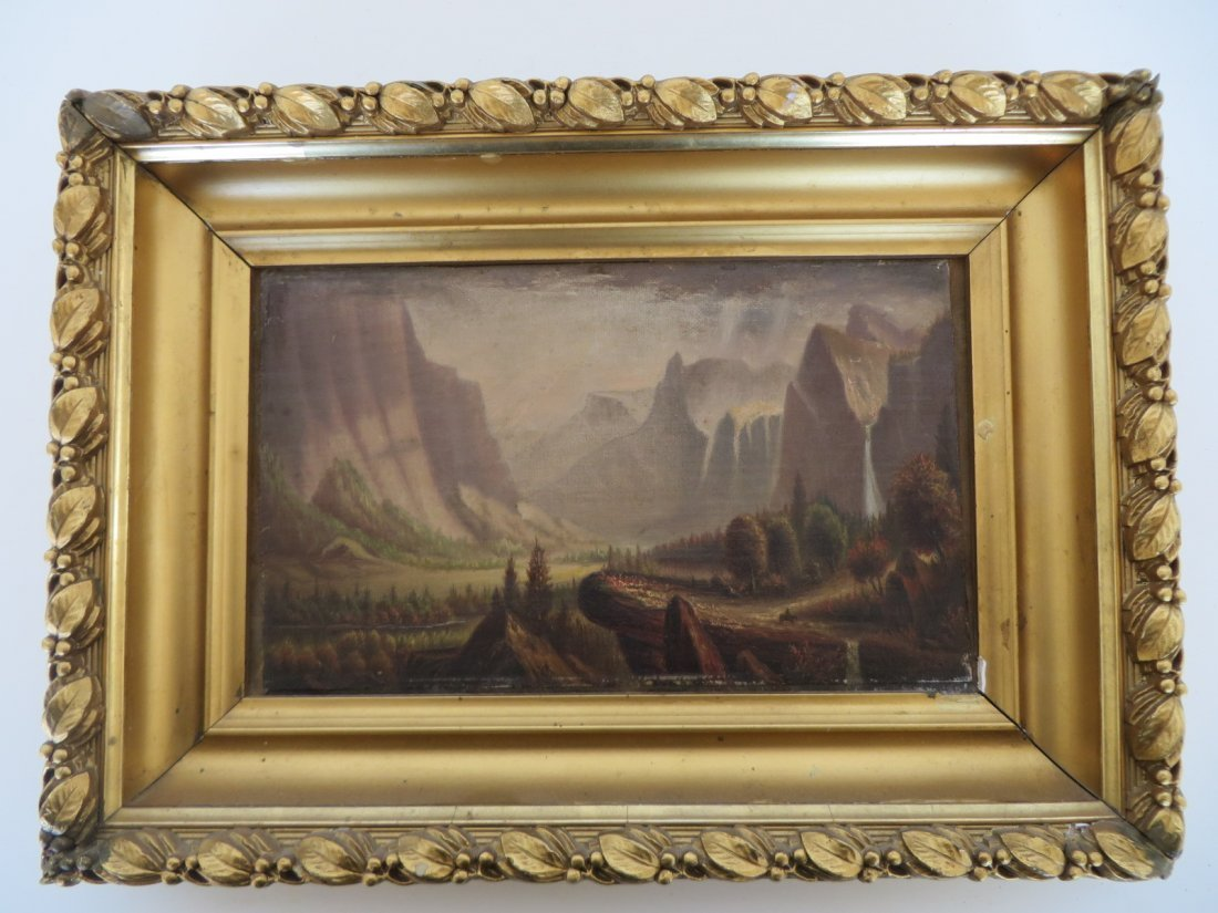 Early Oil Possibly Yosemite Falls