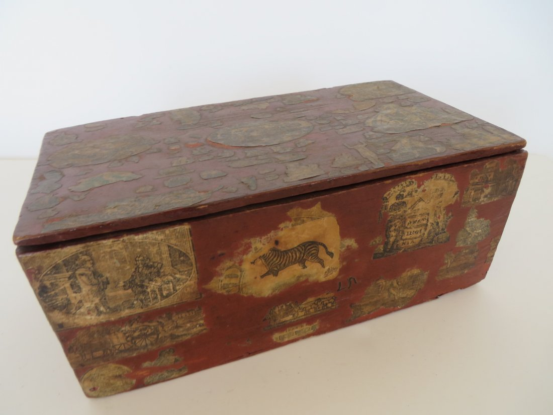 Early Schoolwork Decoupage Box