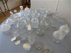 Group 36 Pieces Early American Pressed Glass