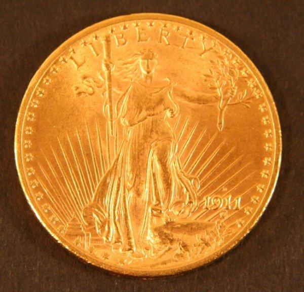 11: $20 1911-D Liberty Gold Coin