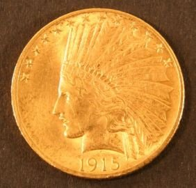 12: 1915 Indian Gold Coin