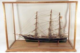 18: Large Ship Model in Case