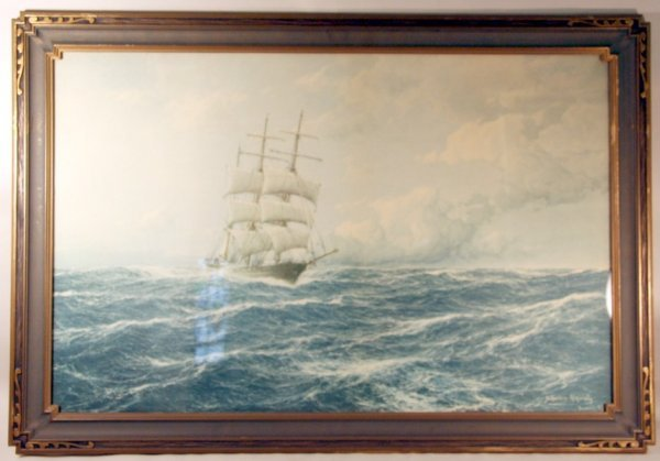 19: Large Sailing Ship Print