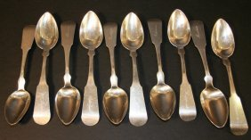 22: Ten silver spoons, New Hampshire