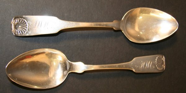23: Two Early Silver Spoons