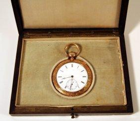 24: Montandon Freres Gold Pocket Watch