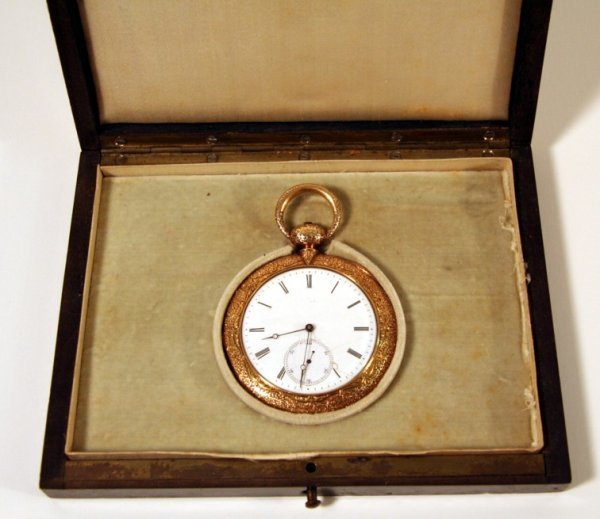 24: Montandon Freres Gold Pocket Watch