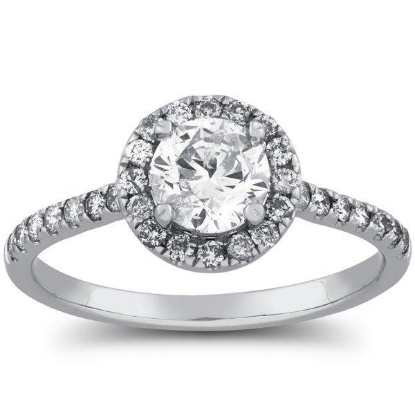 1 Carat Halo Diamond Engagement Ring in 14k Gold