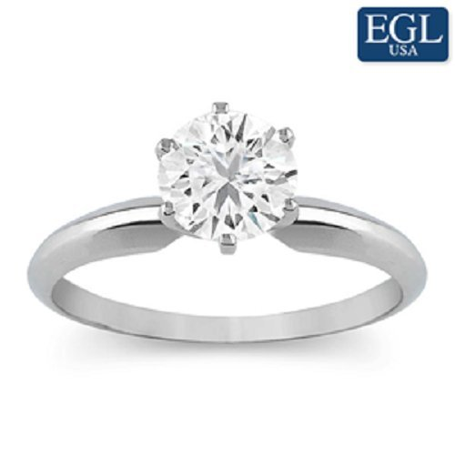 Certified 1/2 Carat Diamond Solitaire Ring in 14k white