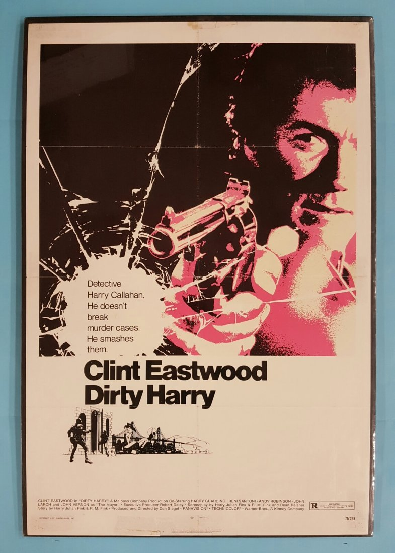 Dirty Harry 1971 One Sheet Movie Poster