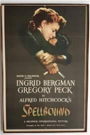 Spellbound (United Artist, 1945) One Sheet Movie Poster