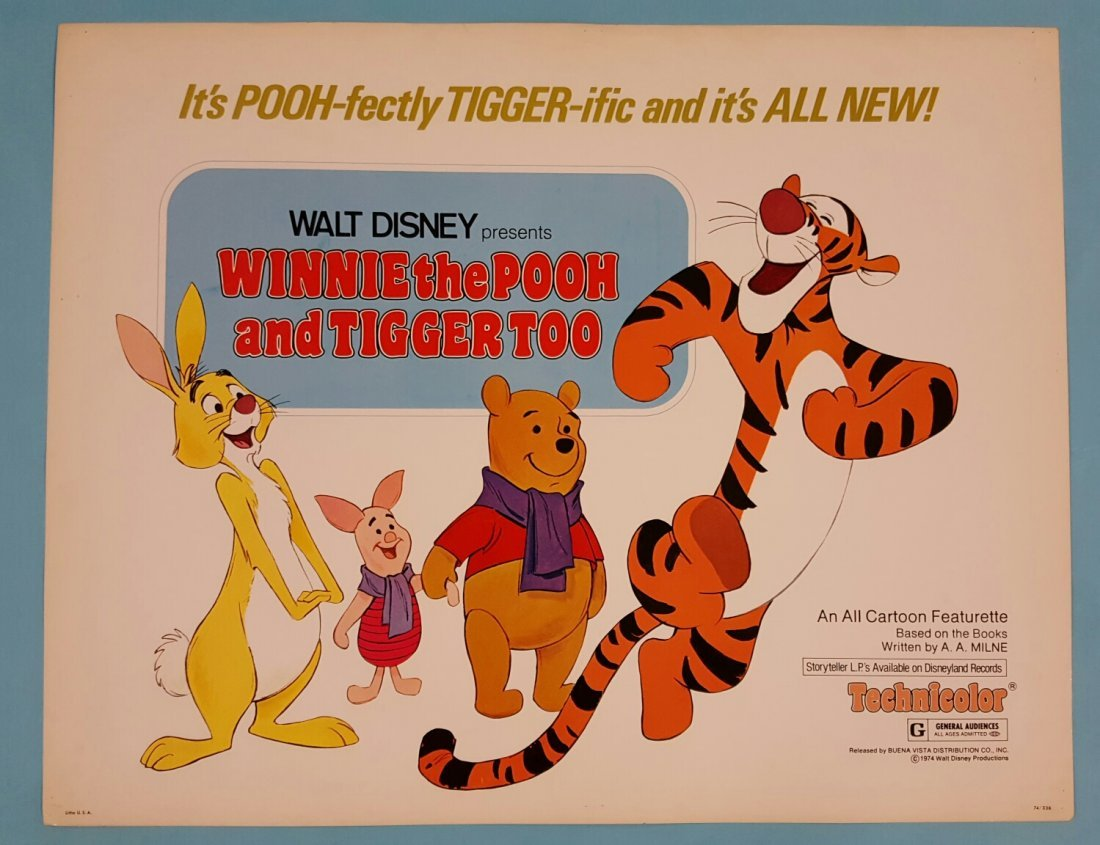 Winnie the Pooh and Tigger Too 1974 Movie Poster