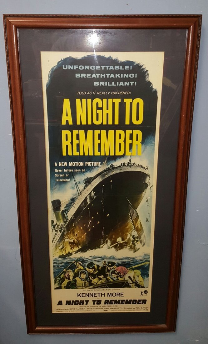 A Night To Remember (1959) Movie Poster Insert