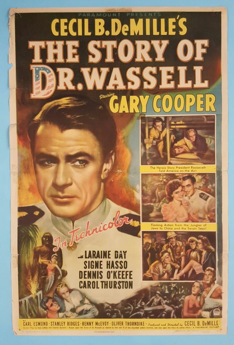 The Story Of Dr. Wassell (1944) One Sheet Movie Poster