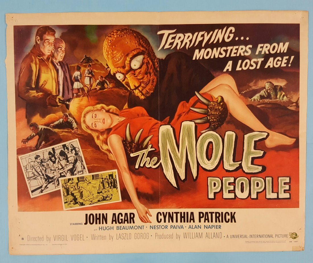 The Mole People (1956) Half Sheet Movie Poster