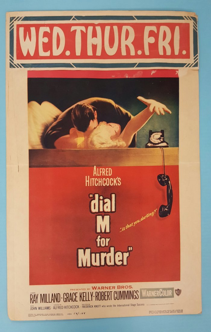 """Dial M for Murder"" (1954) Movie Poster Window Card"