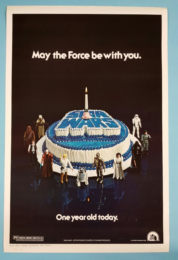 Star Wars (1978) Happy Birthday One Sheet Movie Poster