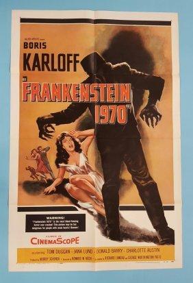 FRANKENSTEIN 1970 (1958) One Sheet Movie Poster