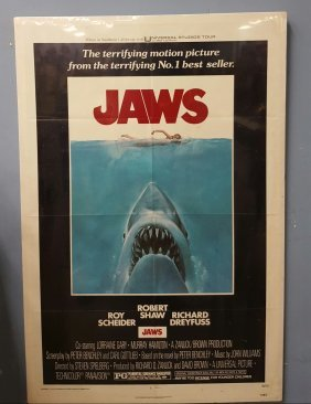 "Jaws 1975 One Sheet Movie Poster 27"" x 41"""