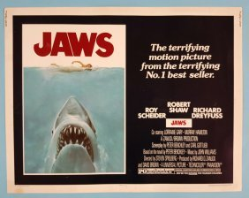 "Jaws 1975 Half Sheet Movie Poster 22"" x 28"""