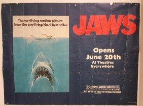 "Jaws 1975 Subway Movie Poster 45"" x 59"""