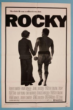 "Rocky 1977 One Sheet Movie Poster 27"" x 41"""