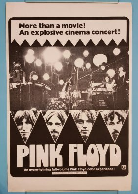 "Pink Floyd 1972 One Sheet Movie Poster 27"" x 41\"""