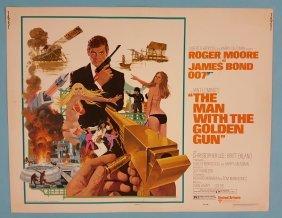 The Man With The Golden Gun Half Sheet Movie Poster
