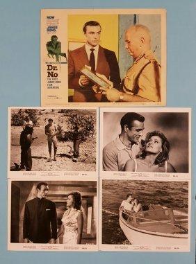 Dr. No 1962 Lobby Card #7 Plus 4 R-65 Movie Stills