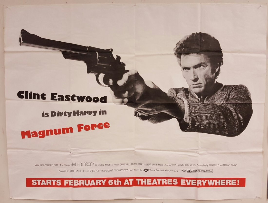 "Magnum Force 1973 Advance Subway Movie Poster 45"" x 59"""
