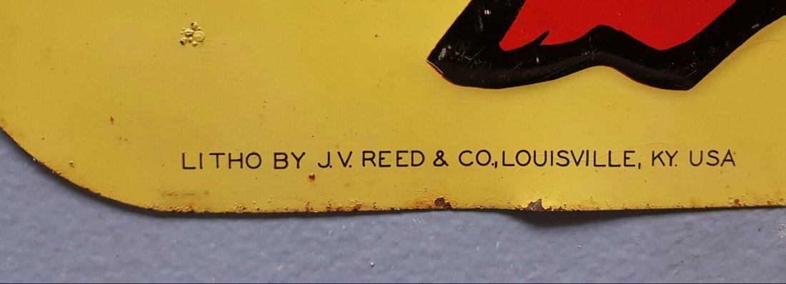 Embossed Bloodhound tin vintage advertising sign - 2