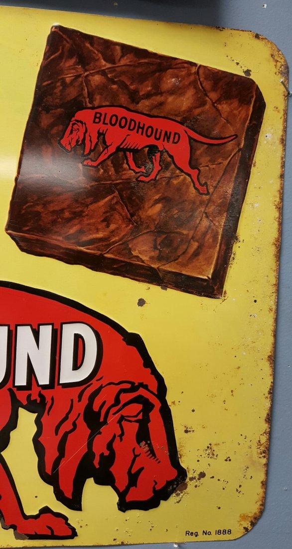 Embossed Bloodhound tin vintage advertising sign - 3
