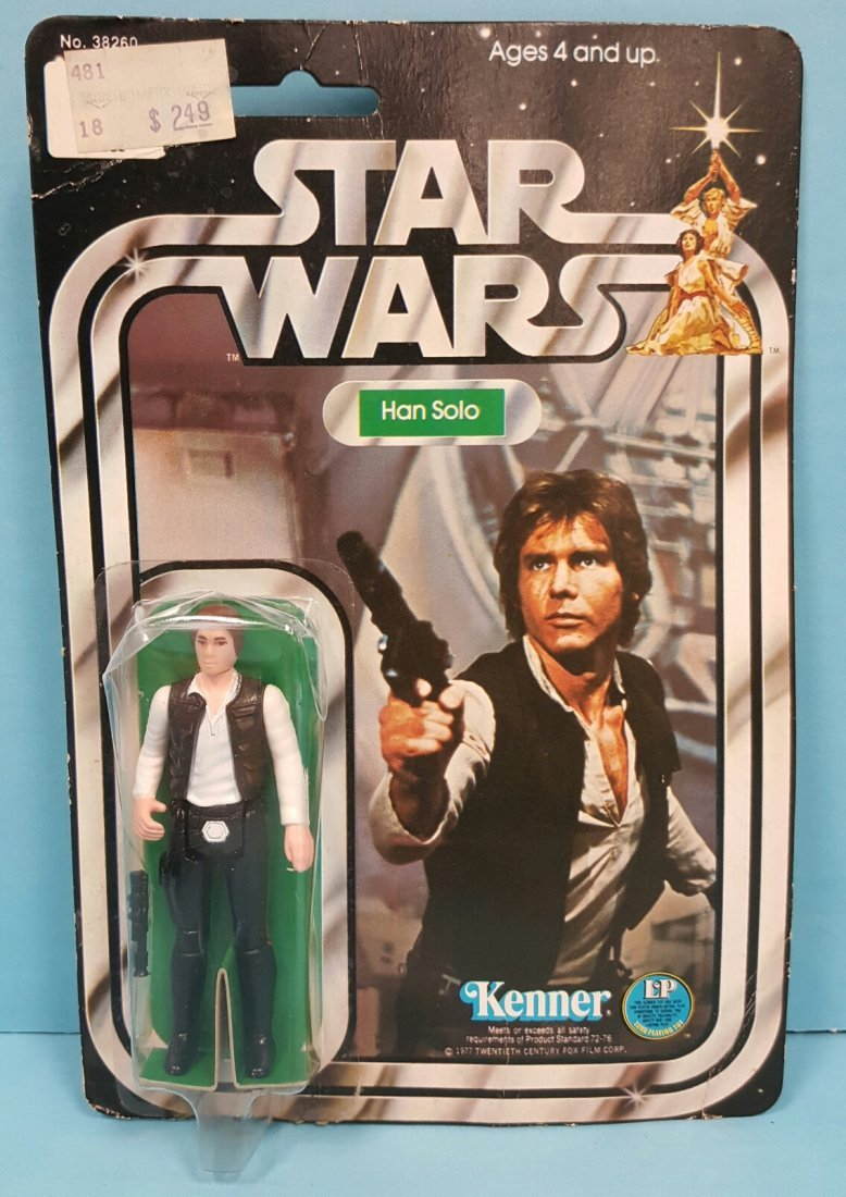 Star Wars Han Solo original Kenner 12 back figure